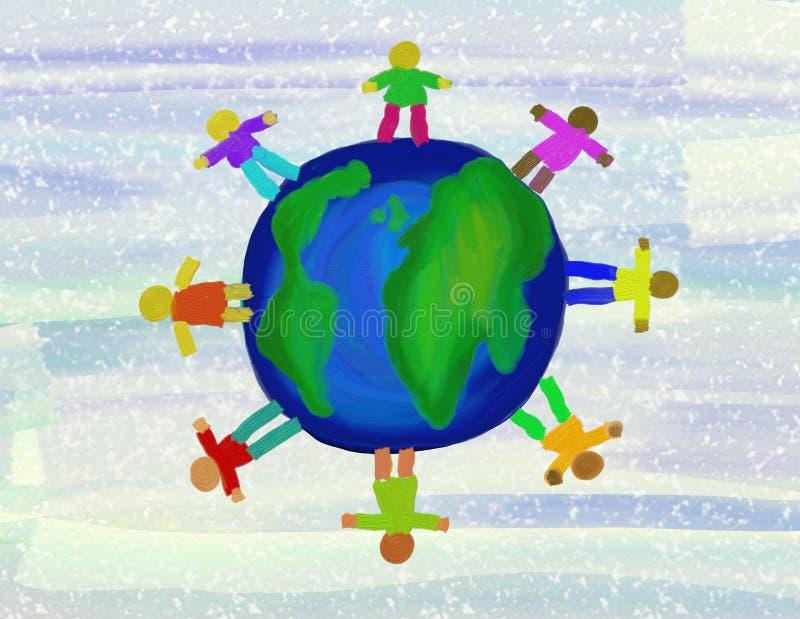 Gente del globo libre illustration