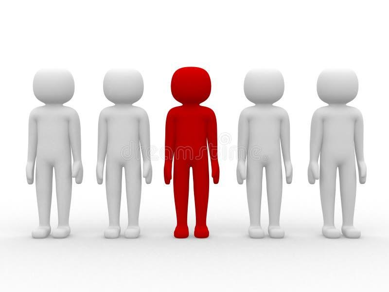 gente del icono 3d - dirección y personas ilustración del vector