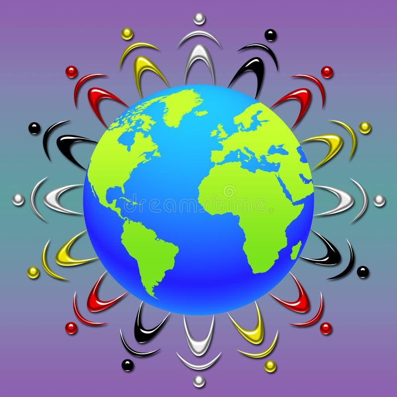 Download Gente del mundo stock de ilustración. Ilustración de armonía - 7287608