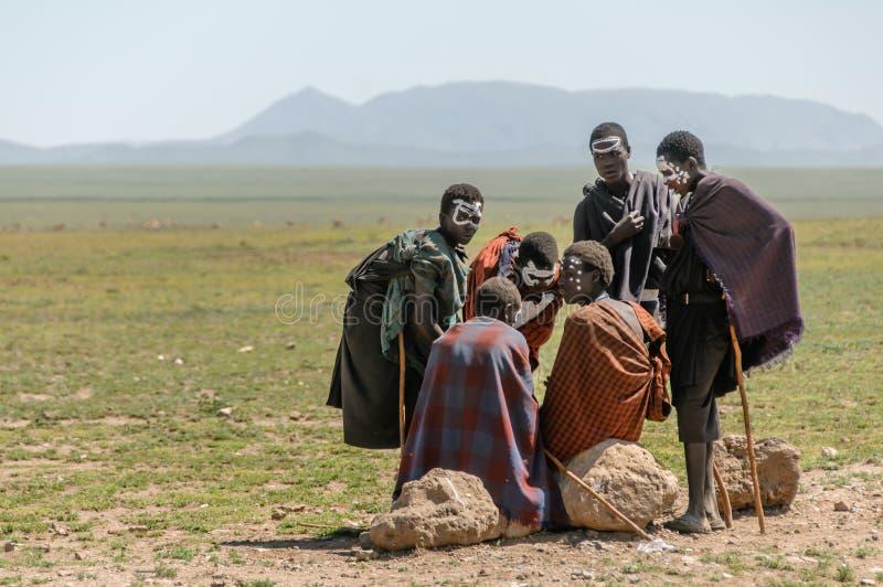 Gente del mundo - grupo de Maasai fotografía de archivo libre de regalías