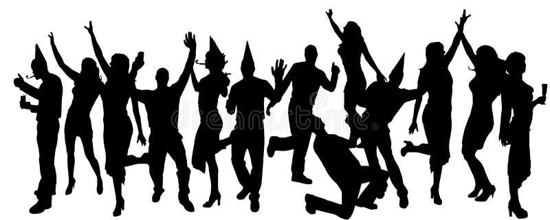 Gente del partido ilustración del vector