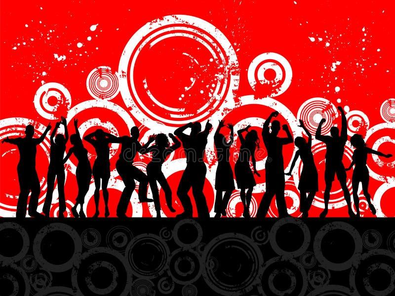 Gente del partido de Grunge stock de ilustración