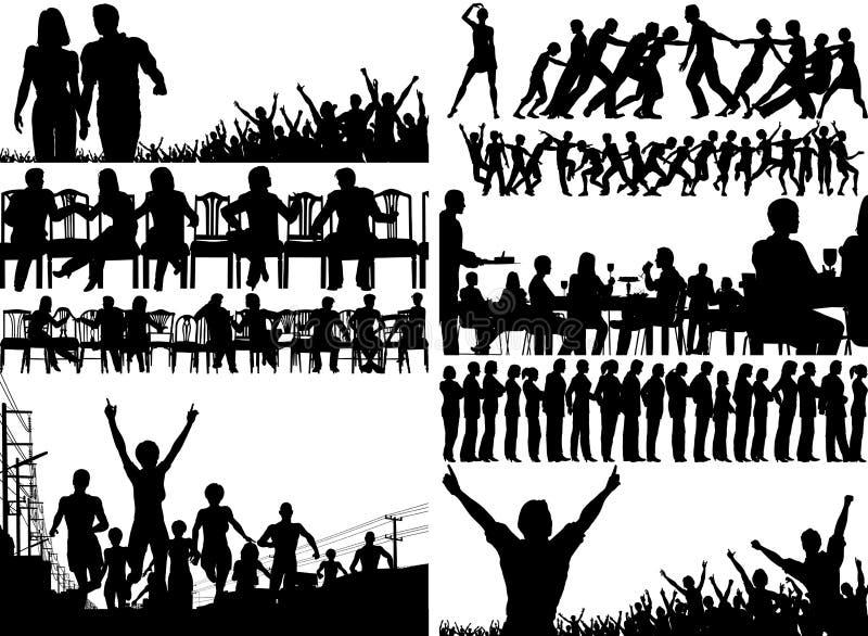 Gente del primero plano libre illustration