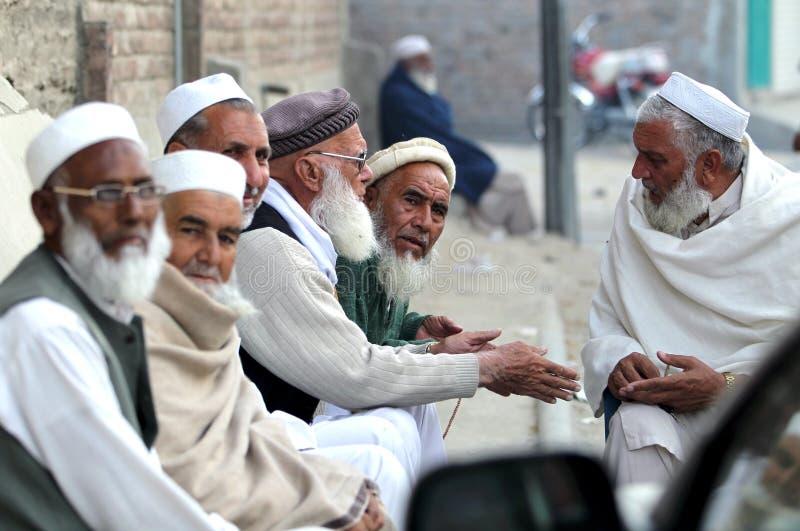 Gente en el valle del golpe violento, Paquistán imágenes de archivo libres de regalías