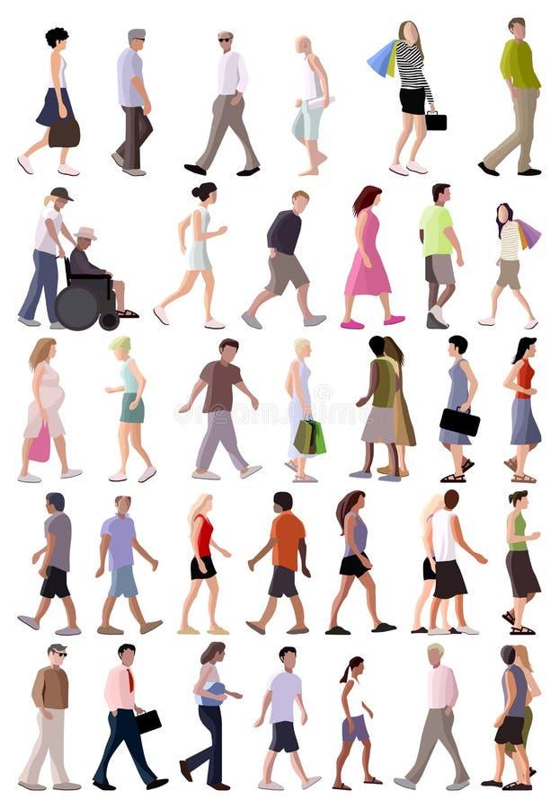 Gente del verano del vector libre illustration