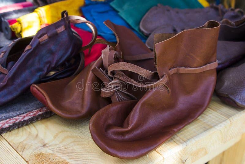 Gente del vintage de las botas de cuero imagen de archivo