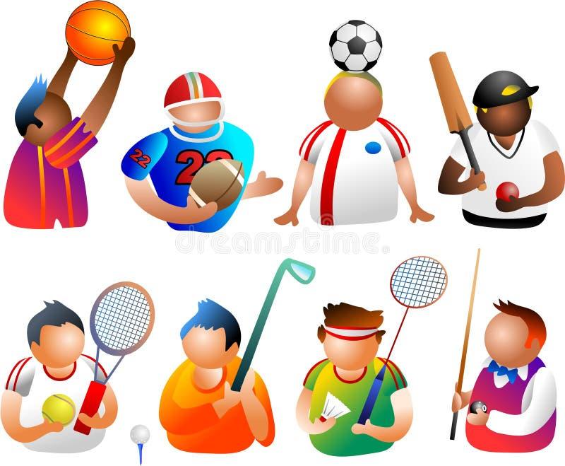 Gente deportiva stock de ilustración