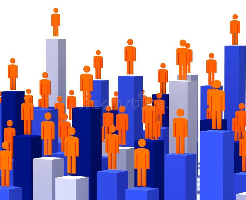 gente di affari 3d illustrazione vettoriale