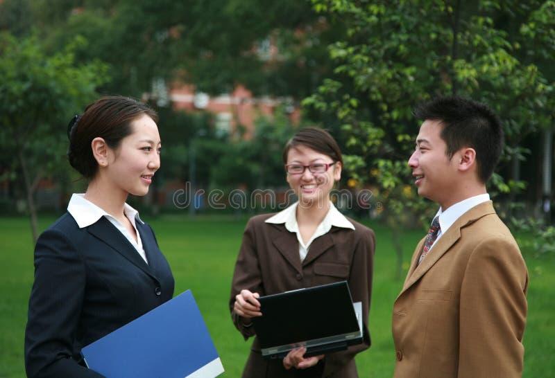 Gente di affari asiatica fotografie stock libere da diritti