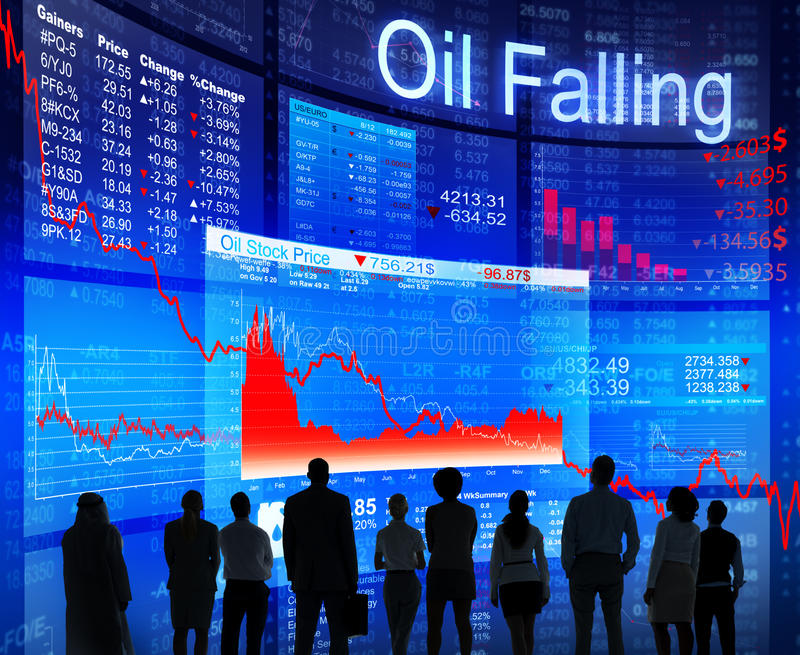 Gente di affari che affronta crisi petrolifera fotografia stock