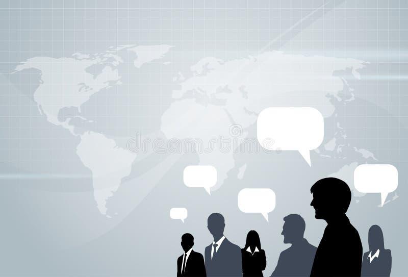 Gente di affari che consulta conversazione del gruppo illustrazione di stock