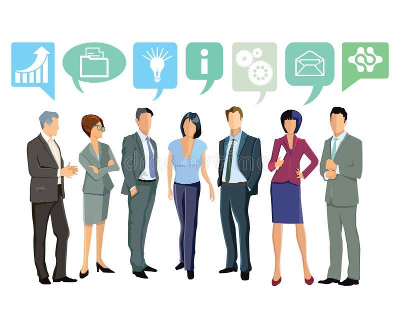 Gente di affari che discute le idee illustrazione di stock