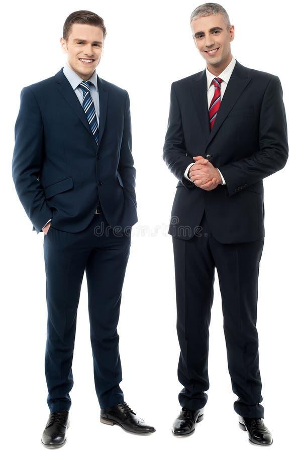 Gente di affari che posa nello stile immagini stock libere da diritti