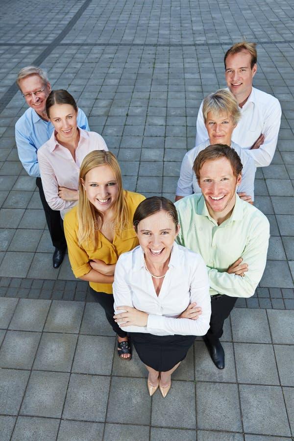 Gente di affari come gruppo dinamico fotografie stock libere da diritti
