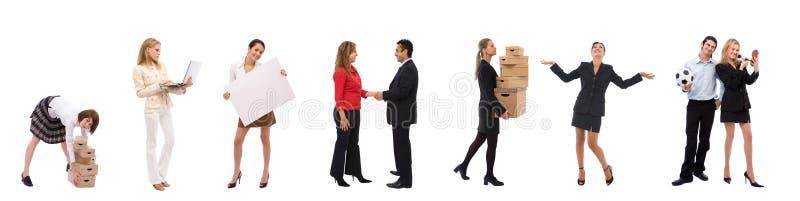 Gente di affari con differenti concetti fotografie stock libere da diritti