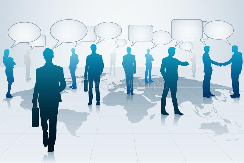 Gente di affari con la bolla di chiacchierata royalty illustrazione gratis