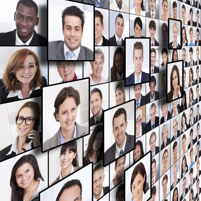 Gente di affari del collage immagini stock