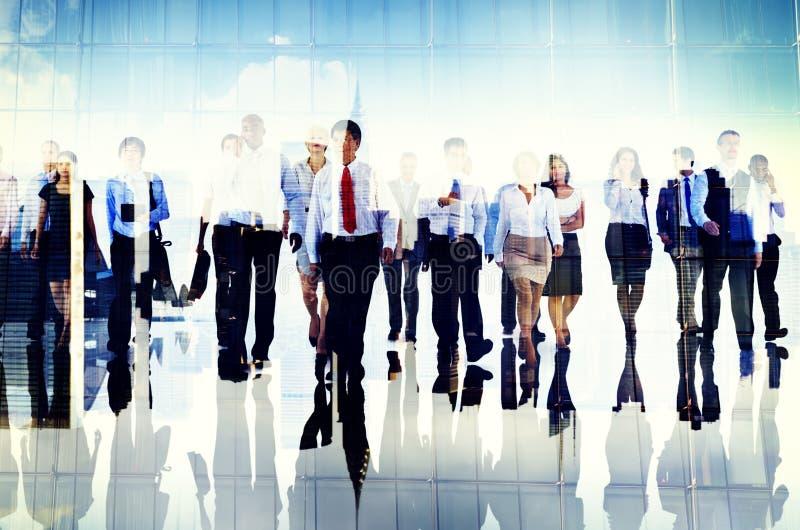 Gente di affari del gruppo Team Corporate Concept del pendolare immagini stock