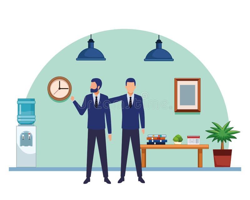 Gente di affari del personaggio dei cartoni animati degli avatar royalty illustrazione gratis