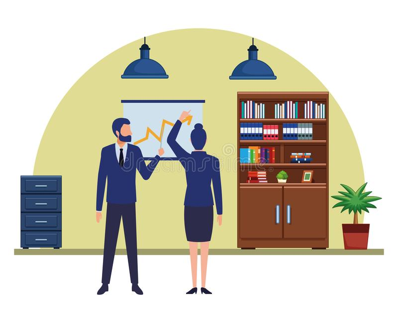 Gente di affari del personaggio dei cartoni animati degli avatar illustrazione di stock