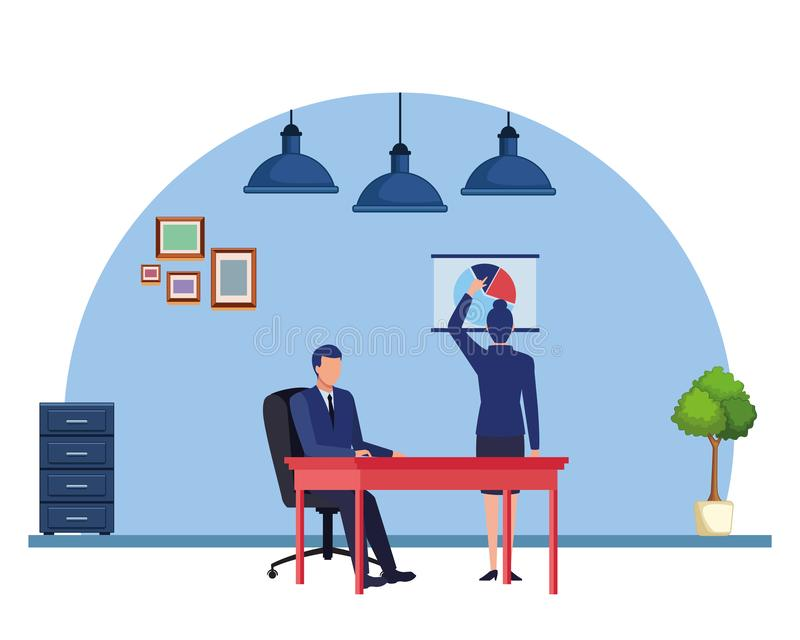 Gente di affari del personaggio dei cartoni animati degli avatar illustrazione vettoriale