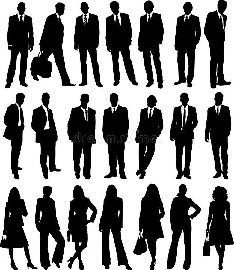 Gente di affari dell'accumulazione illustrazione di stock