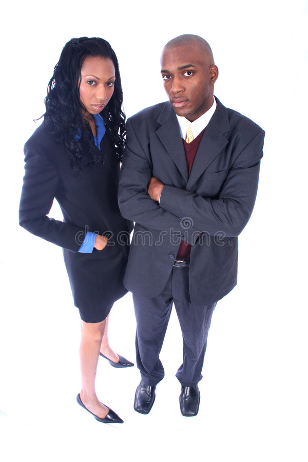 Gente di affari dell'afroamericano fotografia stock libera da diritti