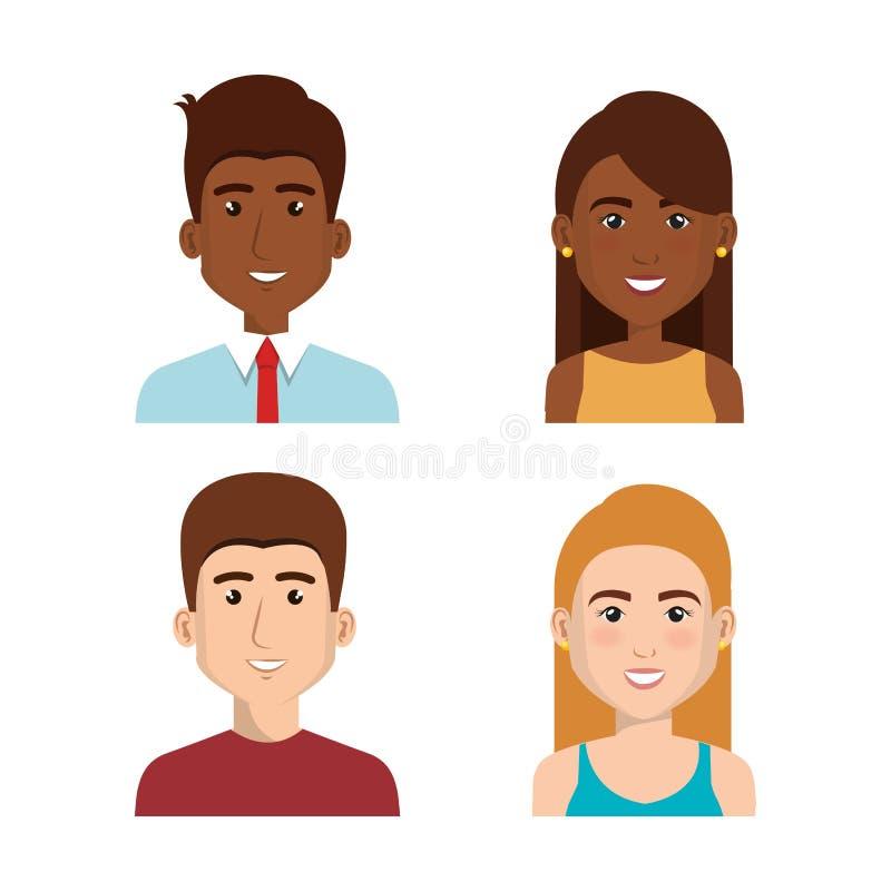 gente di affari dell'icona degli avatar illustrazione di stock