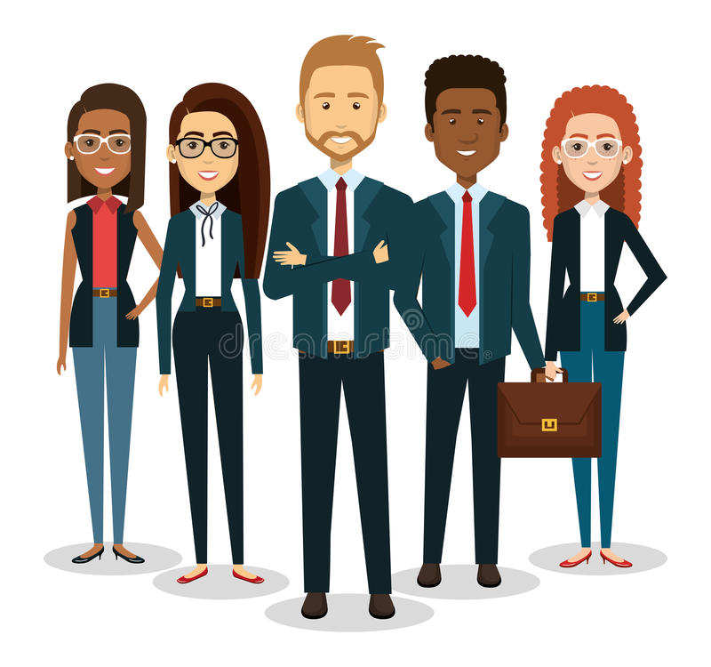 gente di affari dell'icona degli avatar illustrazione vettoriale