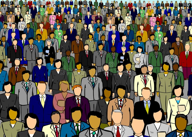 Gente di affari dell'illustrazione del contesto illustrazione vettoriale