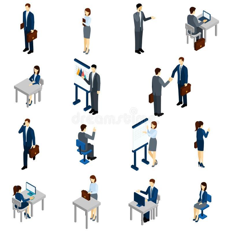 Gente di affari dell'insieme isometrico illustrazione vettoriale