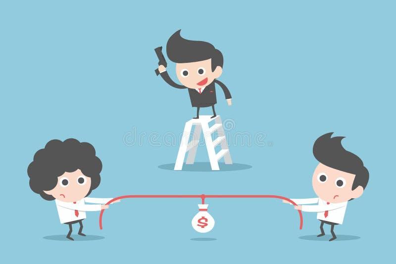 Gente di affari della concorrenza illustrazione vettoriale