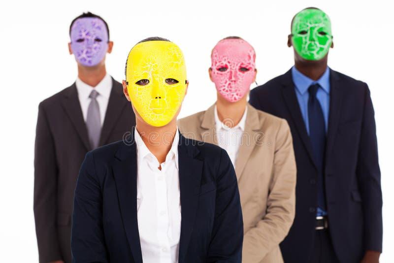 Gente di affari della maschera fotografia stock