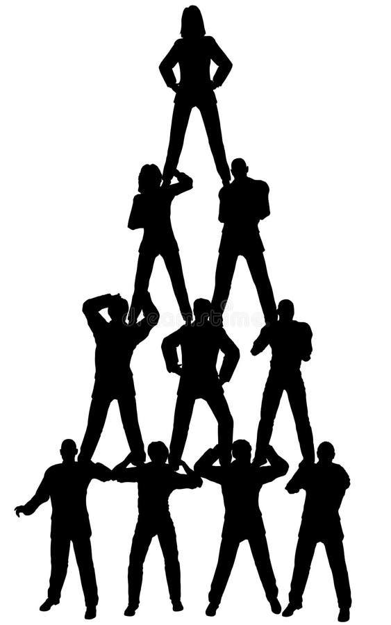 Gente di affari della piramide royalty illustrazione gratis
