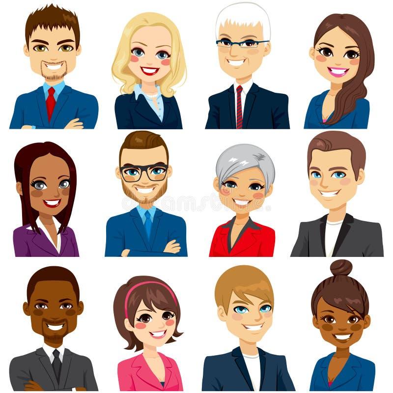 Gente di affari della raccolta stabilita dell'avatar royalty illustrazione gratis