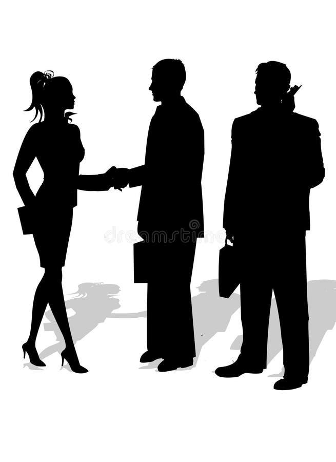Gente di affari della siluetta illustrazione vettoriale