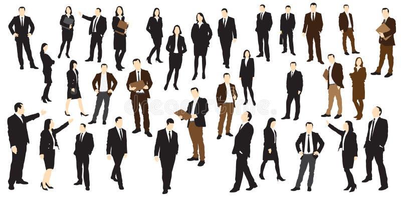 Gente di affari delle siluette royalty illustrazione gratis