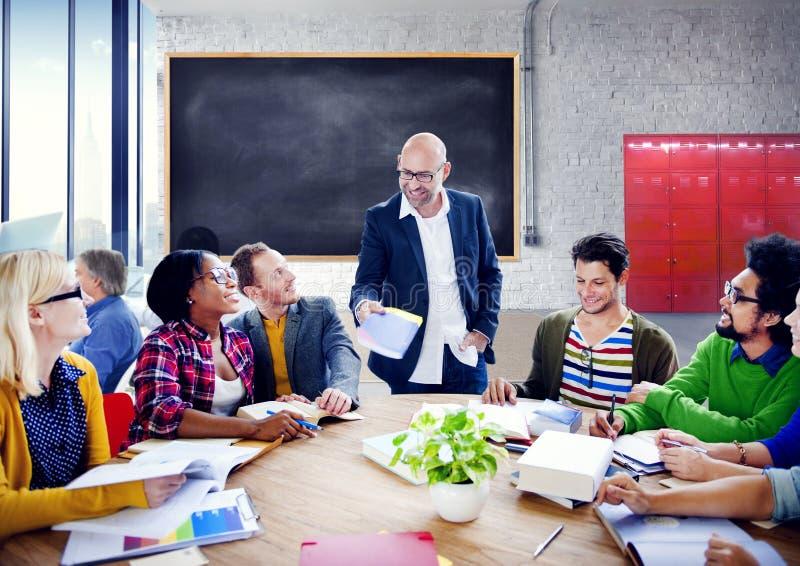 Gente di affari di Team Teamwork Cooperation Occupation Partnership immagine stock