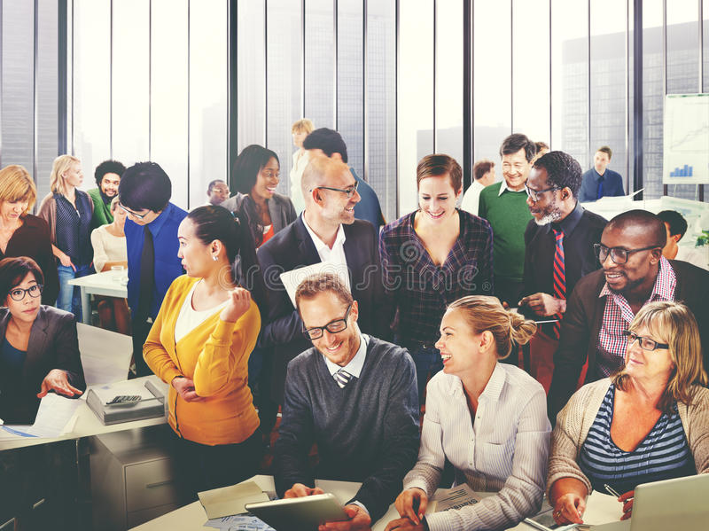 Gente di affari di Team Teamwork Cooperation Partnership Concept immagini stock libere da diritti