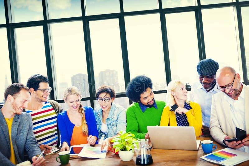 Gente di affari di Team Teamwork Cooperation Partnership Concept immagine stock