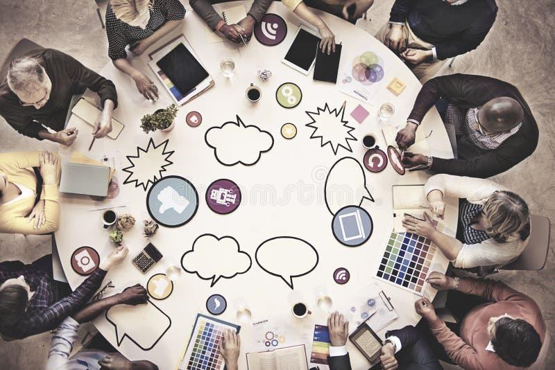 Gente di affari di Team Teamwork Working Meeting Concept immagine stock