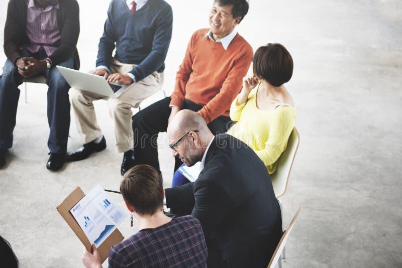 Gente di affari di Team Teamwork Working Meeting Concept fotografie stock libere da diritti