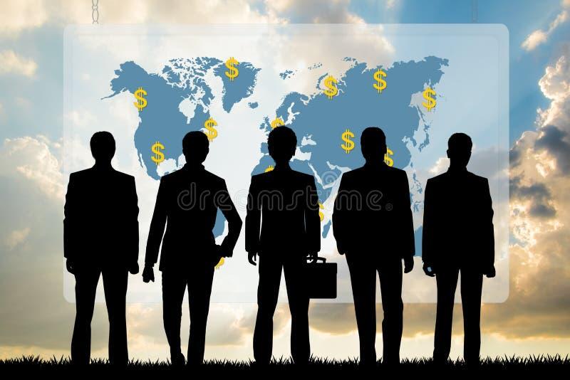 Gente di affari e lo schema di successo illustrazione vettoriale