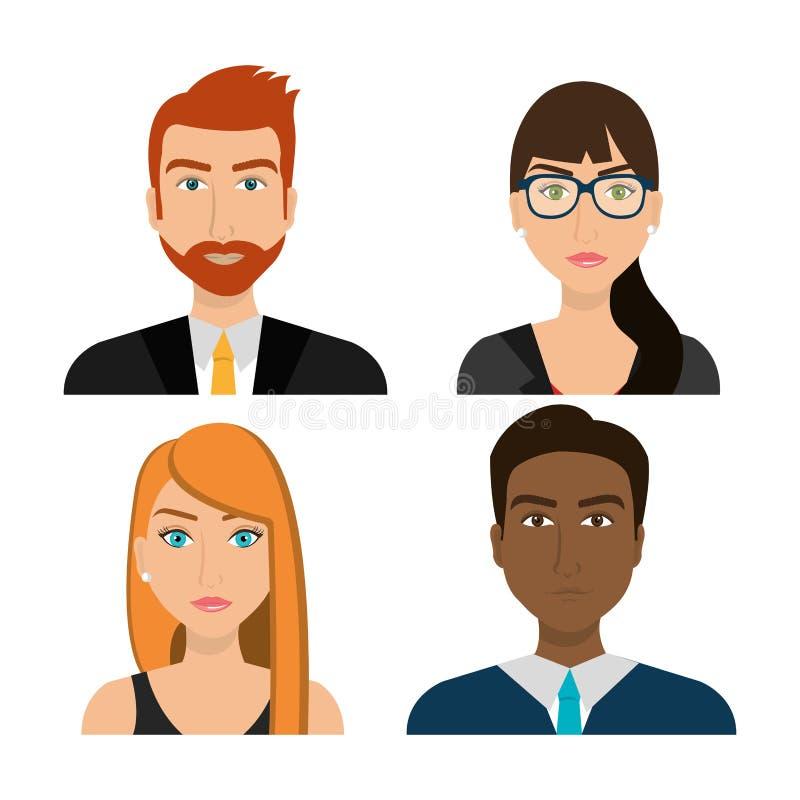 Gente di affari ed imprenditore illustrazione vettoriale