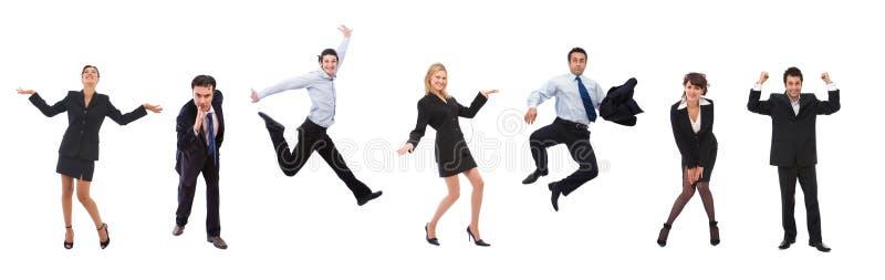 Gente di affari felice fotografie stock