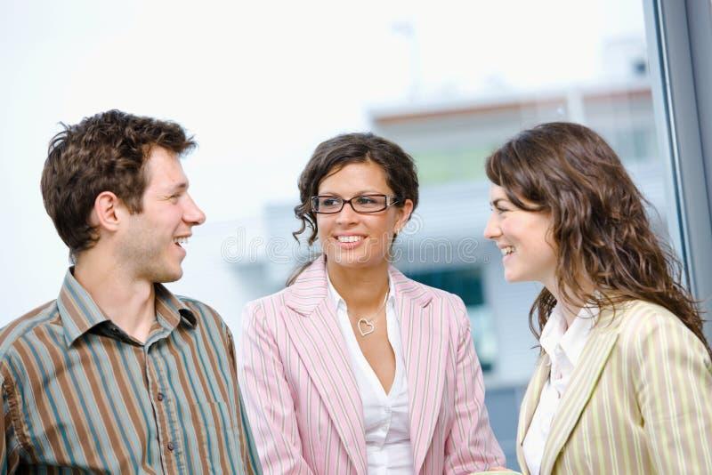 Gente di affari felice immagine stock