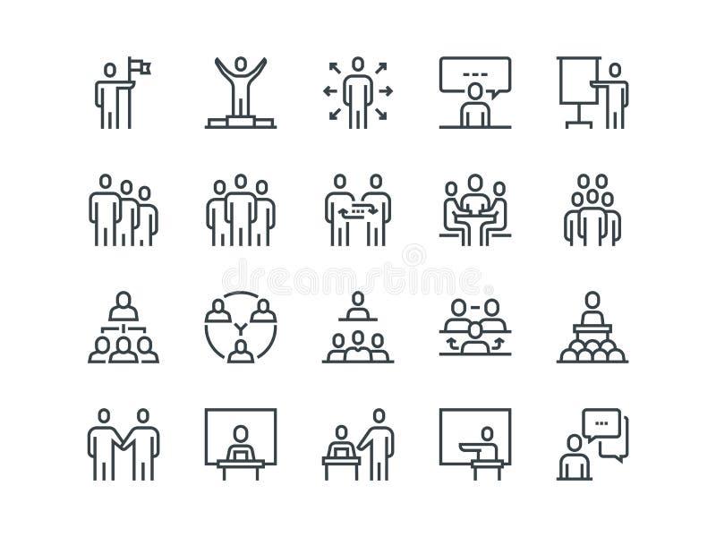 Gente di affari Insieme delle icone di vettore del profilo illustrazione vettoriale