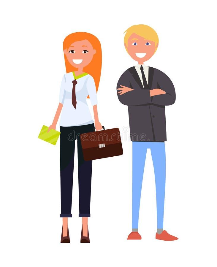 Gente di affari moderna in attrezzature convenzionali illustrazione di stock