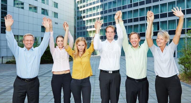 Gente di affari motivata del gruppo fotografie stock