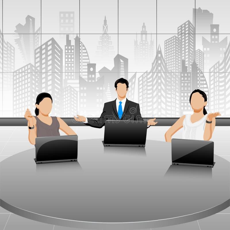 Gente di affari nel corso di una riunione royalty illustrazione gratis